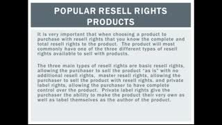 Popular Resell Rights Products