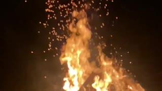 Bon Fire burning in slow motion