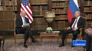 Biden Brings Flashcards To Meeting With Putin