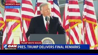 President Trump delivers final remarks