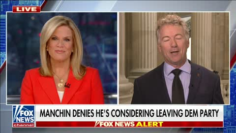 Dr. Paul Comments on Reports that Senator Manchin May Switch Parties on Fox News - October 20, 2021
