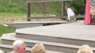 Kids add comedy to a wedding!!! Ring Bearer Fails