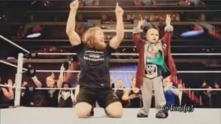 A Cancer patient want to fight with triple h #wwe# Humanity
