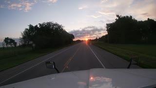 Morning Drive Sunrise