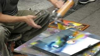 Amazing!!! Street artist taipei, taiwan