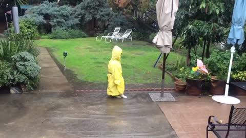 Rainy funny day