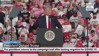 Donald Trump returns to the campaign trail starting in Sanford, FL October 12, 2020