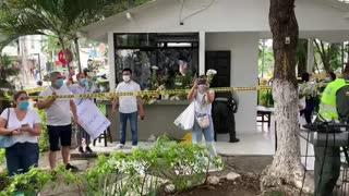 En imágenes: Avanza plantón para apoyar a la Policía en Bucaramanga 1