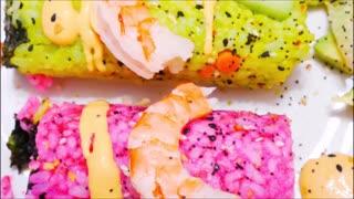 Whimsical UNICORN SUSHI ROLLS Super Easy Recipe