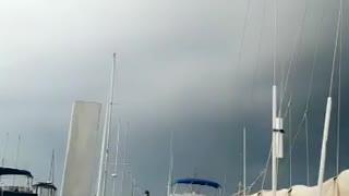 Crazy storm cloud