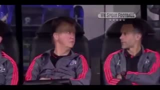 Funny moment in football video matching.