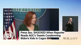 Press Sec. SHOCKED When Reporters reads AOC Tweet on facilities at the border