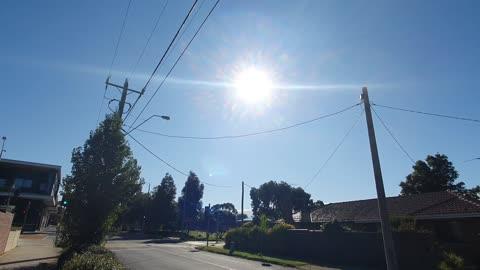 weird cloud formation Melbourne Australia