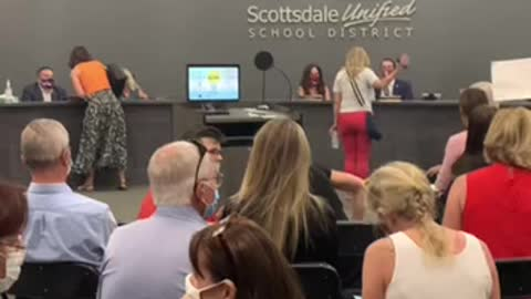 Scottsdale Unified School District board shouted out of the building!