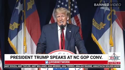 #DonaldTrump Delivers Rare Speech In North Carolina