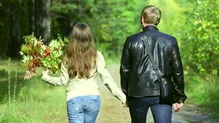 Copyright free video footage Holding hands and walking No Copyright video footage