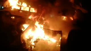 Car Fire Sets Off Car Alarms