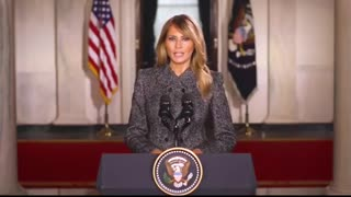 First Lady Melania Tump has issued a farewell message to the American people.