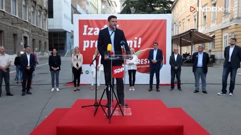 Davor Bernardić u Rijeci u sklopu izborne kampanje predstavio kandidate za sabor
