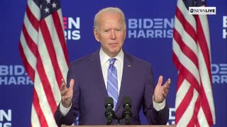 Biden Comes Short of Declaring Victory at Press Conference