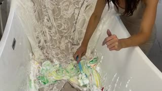 Bride TRANSFORMS WEDDING DRESS ❤