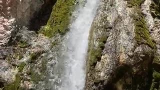 Beautiful waterfall in At Bashy (KG)