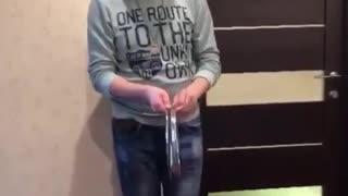 Magic man show magic trick