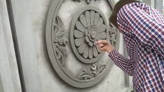 House Construction - Beautiful Art Painting sand and cement on Concrete Walls