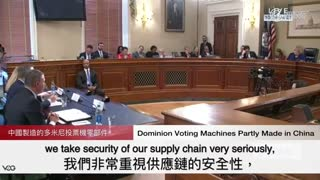 Dominion CEO Admits Using Parts Made in Communist China in a House Hearing in January
