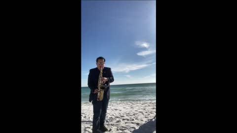 Beach sax performance ballad mix