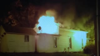 Canal Fulton Pink House Fire Footage