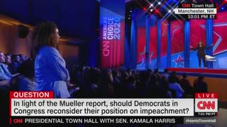 Kamala Harris Says on CNN Congress Should Move to Impeach Trump