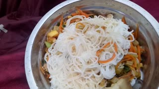 Delicious rice noodles, cats will drool when they see it