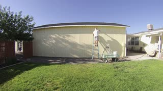 Painting the Garage - Time Lapse