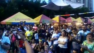 La Policía se 'reconcilia' con la empanada en Bucaramanga
