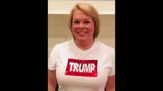 Trump to Flag Sequins Shirt
