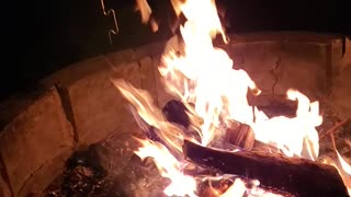 Awesome fire at our cabin