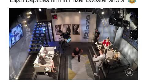 Alex Jones Pledges Allegiance to the NWO and Elijah baptizes him in Pfizer Booster shots