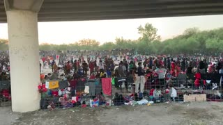 MASSIVE CROWD of Illegal Immigrants Amasses at Southern Border, Encouraged by Biden Policies