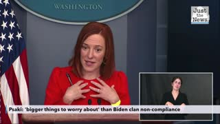 Psaki: 'bigger things to worry about' than Biden clan non-compliance with Biden mask mandate