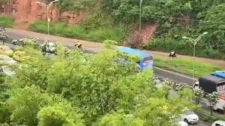 Paro de motociclistas Floridablanca