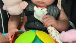Baby Has Hilarious Reaction to Sensory Development Toy