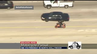 High Speed Police Motorcycle Pursuit Goes Off Road...