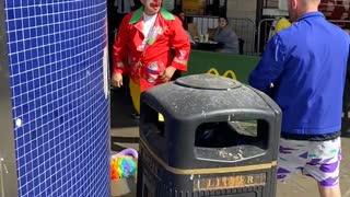Guy Isn't Clowning Around
