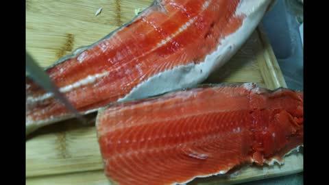 Sockeye Salmon Fillet in Alaska in July, 2021
