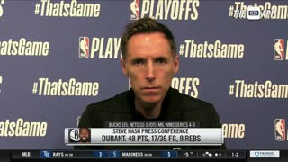 Steve Nash on Nets being eliminated from NBA Playoffs