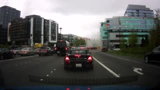 Dashcam Video of Seattle Crane Collapse