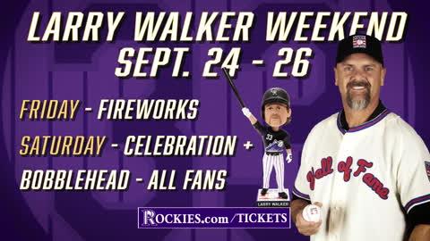 Larry Walker HOF Celebration 09/25 at Coors Field Commercial