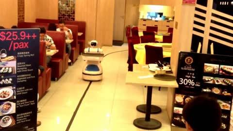 Robot Helper in the Restaurant
