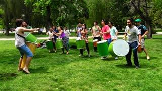 Batucada Reggae in Santiago, Chile